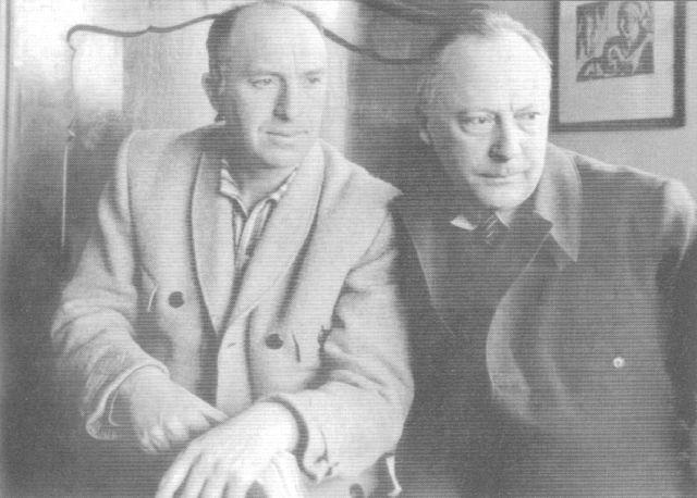 Imre bácsi és Otto Witting (Ismeretlen szerző felvétele)